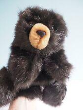 Folkmanis Plush Black Bear Cub Hand Puppet