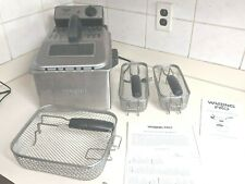 Waring Pro Professional Deep Fryer, 3 basket with handles & directions light use