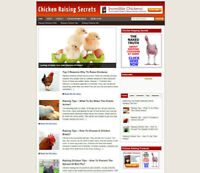 CHICKEN RAISING ADVICE WEBSITE WITH AFFILIATE STORE - FULLY STOCKED + DOMAIN