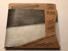 Paprcuts Portemonnaie Tyvek Wallet Gray & White - Handmade in Germany Papercuts