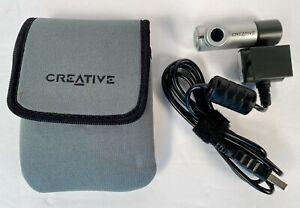 Creative Labs N10225 Webcam Compact Notebook Camera w/Clip & Soft Case