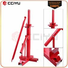Manual Tire Changer Automotive Bead Breaker Tool Mounting Home Shop Red Steel
