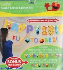 SESAME STREET 1st FIRST BIRTHDAY JUMBO LETTER BANNER KIT PARTY SUPPLY DECORATION