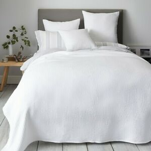 1 Pc ribbed quilted Bedspread King Size Cotton Quilt Coverlet