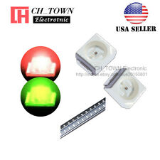 100PCS 1210 (3528) SMD SMT PLCC-2 LED Diodes Two-color Bi-Color Red&Green Light