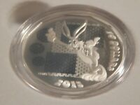 """2015 1/2 oz. Fine Silver Coin - Looney Tunes """"Bugs Bunny """"What's Up, Doc?"""""""