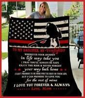 Firefighter Daughter-Wherever Your Journey In Life May Sofa Fleece Blanket 50-80
