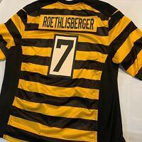 RARE Mens NIKE Pittsburgh Steelers Ben Roethlisberger #7 NFL Football Jersey Bee