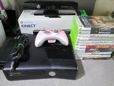 Microsoft Xbox 360S with Kinect 4GB Black Console & 17 Games