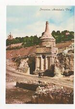 Jerusalem Abshaloms Pillar Postcard 615a