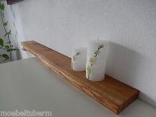 Wandboard Eiche Wild Massiv Holz Board Regal Steckboard Regalbrett Baumkante !!!
