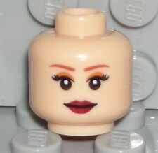 LEGO Light Flesh Head Dual Sided Female Red Lips Princess Tamina Minifigure 7572