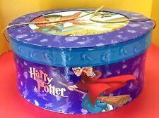 Htf Harry Potter Round Quidditch Scene Purple Hat Storage Box Warner Bros 2001
