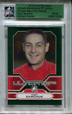 2012-13 ITG Ultimate TERRY SAWCHUK Slabbed Emerald Base Detroit Red Wings SP /60