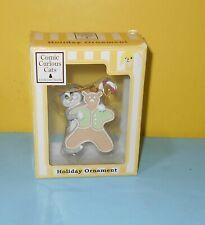 Comic & Curious cat gingerbread Christmas tree ornament Linda Jane Smith