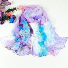 Fashion Scarf Women Chiffon Scarf Long Floral Silk Wrap Shawl Scarves Neck Stole