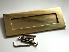 Vintage Sprung Brass Letter Box Cover with 4 Screws & Allen Key