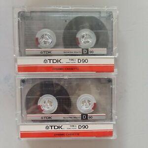 2 X D90 TDK BLANK MUSIC CASSETTE NEW