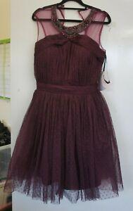 Little Mistress Tall Fit Purple Chiffon Dress UK Size 16