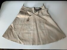 Vila New Beige 100% Suede Leather Skirt Bnwts Size Large  BNWTS