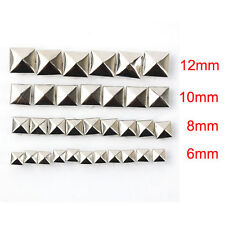 100pcs DIY Metal Punk Square Pyramid Spike Rivet Studs Leathercraft 6-12mm yj