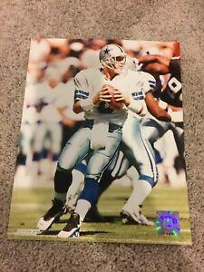 Troy Aikman Authentic 8x10 Licenses Color Photo Dallas Cowboys NFL MVP HOF Print