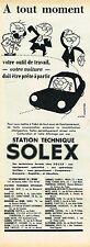 J- Publicité Advertising 1961 Station Technique Solex par Genestre