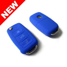 BLUE SILICONE COVER FOR VW 3-BUTTON REMOTE FOLDING FLIP KEY