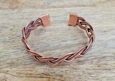 Copper Magnetic Coil Adjustable Bracelet Twisted Wire Wrap Antique Tool Braid