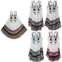 women dress tunic ladies summer beach top kaftan hippie boho party dress #4506