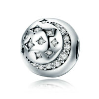 Authentic 925 Sterling Silver Clip Lock Spacer Stopper Charm Bead Fits Bracelet