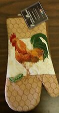 """Fabric Printed Kitchen 13"""" Jumbo Oven Mitt, ROOSTER by HD"""