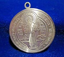 St Benedict Medal Large Silvertone Reflective
