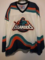 NHL New York NY Islanders Fisherman's CCM Jersey Size 2XL Vintage 90's Hockey