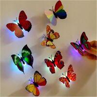 5Pcs Schmetterlings-Wand-Dekoration, die LED-Licht-Saugunterlage beleuchtet