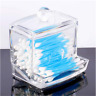 1x Q-tip Clear Acrylic Holder Box Cotton Swabs Storage Cosmetic Makeup Organizer