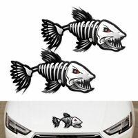 Boat Vinyl Funny Graphics Decoration Skeleton Fish Vehicle Decal Car Sticker