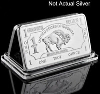 Buffalo Fine German .999 1 Troy Oz Silver Bullion Bar for Collection Decoration