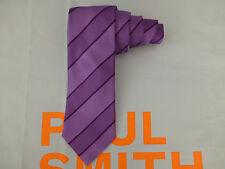 PAUL SMITH Slim Long Tie Silk X20 Exquisite BLADE Stripe Purple Ties BNWT RRP£85
