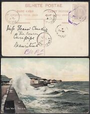 Mozambique 1907 - Illustrated postcard to Curepipe-Mauritius..(6G-19587) MV-1131