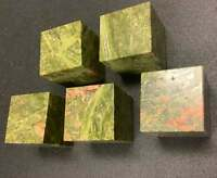Wholesale Bulk Lot 5 Pack Of Unakite Cubes Carved Crystal Art Decor