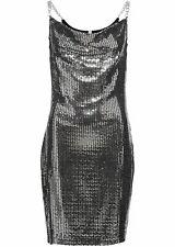 Partykleid, 25-103 in Schwarz/Silber 36/38