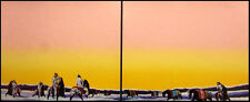 "Earl Biss ""Horse Thieves At Dawn"" (peach sky) 2 pieces Hand Signed Horses"