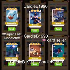 All 6 Tradable Cards From Sherlock Coin Master !!!Super Fast Dispatch!!!