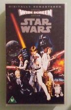 STAR WARS iv a new hope   VHS VIDEOTAPE  UK VERSION pal format