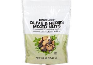 Olive & Herbs Mixed Nuts A Festive Mix of Seasoned Roasted Trader Joe's 10oz NEW