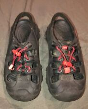 Crocs Juniors Youth Shoes Sandals  Boys Size 3 Black Red Bungie Cord