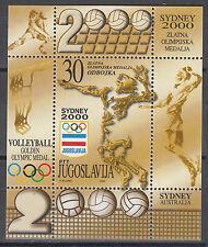 Jugoslawien / Jugoslavija 2991** (Block 50**) Olympia 2000 Sydney / Volleyball