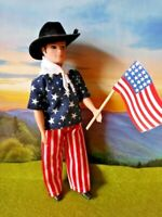 DAWN DOLL clothing   BOY OUTFIT ..AMERICA THE BEAUTIFUL .....STARS AND STRIPES