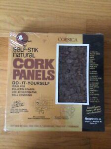 Quarter Corsica Cork Panel Bulletin Board, Natural Cork, 12 x 12, 4 Panels/Pack